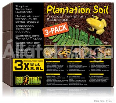 Exo-Terra Plantation Soil - Brick kókuszrost tégla 3x8,8 literes (3 db-os) PT2771
