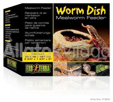 Exo-Terra Worm Dish Medium féregetető tál közepes 95x45x127 mm-es PT2816