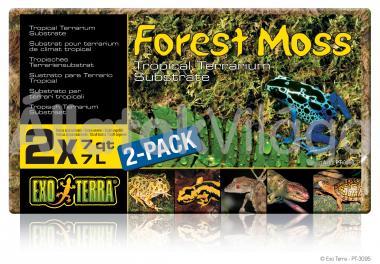 Exo-Terra Forest Moss erdei moha 2x7 liter PT3095
