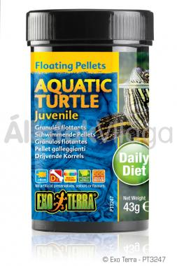 Exo-Terra Aquatic Turtle Juvenile fiatal vízi teknős eledel 43 g-os PT3247