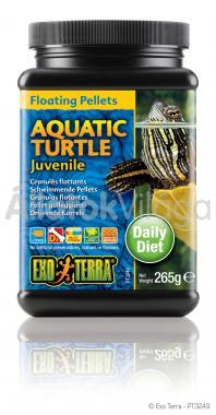 Exo-Terra Aquatic Turtle Juvenile fiatal vízi teknős eledel 265 g-os PT3249