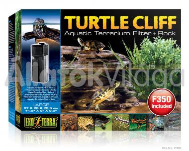 Exo-Terra Turtle Cliff Large teknős sziget nagy 37x23x23,5 cm-es PT3655