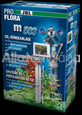 JBL ProFlora m503 CO2 szett tölthető palackkal + pH szabályzó 20-600 literig
