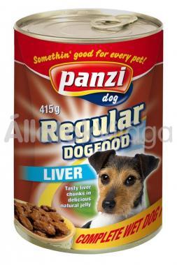 Panzi Regular DogFood Liver májas konzerv kutyaeledel 415 g-os