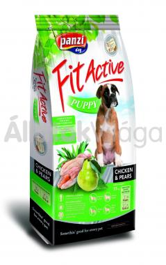 Panzi FitActive Young-Puppy-kölyök Chicken & Pears csirke & körte kutyaeledel 15 kg-os
