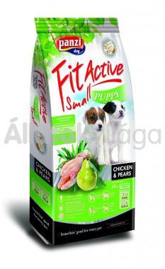 Panzi FitActive Young-Puppy-kölyök Small Chicken & Pears csirke & körte kutyaeledel 15 kg-os