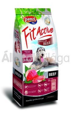 Panzi FitActive Adult-felnőtt Regular Beef marhás kutyaeledel 15 kg-os