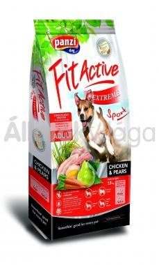 Panzi FitActive Adult-felnőtt Extreme Sport Chicken & Pears csirke & körte kutyaeledel 15 kg-os