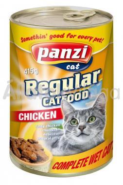 Panzi Regular CatFood Chicken csirkés konzerv macskaeledel 415 g-os