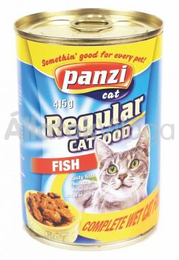 Panzi Regular CatFood Fish halas konzerv macskaeledel 415 g-os