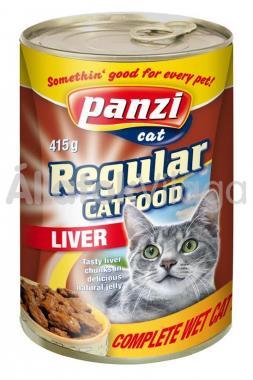 Panzi Regular CatFood Liver májas konzerv macskaeledel 415 g-os