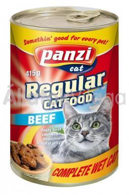Panzi Regular CatFood Beef marhás konzerv macskaeledel 415 g-os