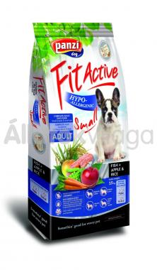 Panzi FitActive Adult-felnőtt Hypoallergenic Small Fish+ Apple & Rice kutyaeledel 4 kg-os