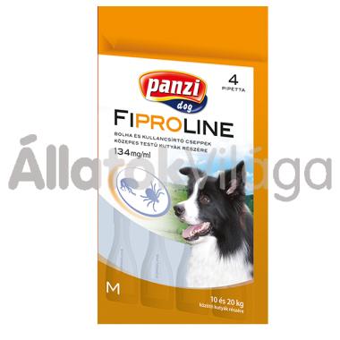 Fipralone 134 mg bolha- és kullancsírtó csepp M-es közepestestű (10-20 kg) kutyáknak 4 db-os (Panzi)