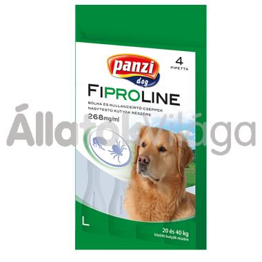Fipralone 268 mg bolha- és kullancsírtó csepp L-es nagytestű (20-40 kg) kutyáknak 4 db-os (Panzi)