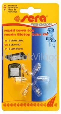 Sera LED kék 6 db-os Biotop Cube 130-hoz 30137