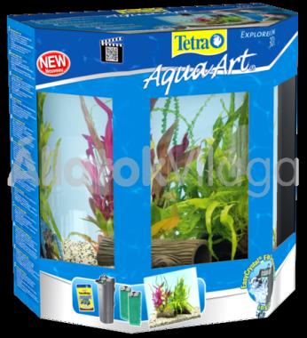 Tetra AquaArt LED Explorer Line Crayfish (rákoknak) akvárium szett 30 literes fekete