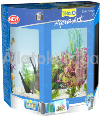Tetra AquaArt LED Explorer Line Tropical (trópusi) akvárium szett 60 literes fekete