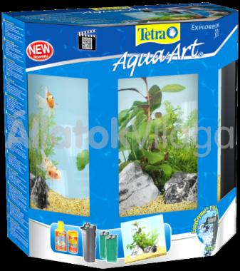 Tetra AquaArt LED Explorer Line Goldfish (aranyhalas) akvárium szett 30 literes fekete