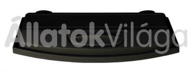 Diversa Selecto akváriumtető világítással domború - íves 120x40-es fekete