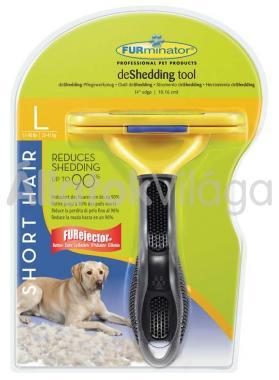FURminator Short Hair L-es aljszőr kiszedő kutyáknak rövid szőrhöz