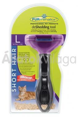 FURminator Short Hair L-es aljszőr kiszedő macskáknak rövid szőrhöz
