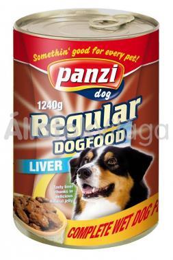 Panzi Regular DogFood Liver májas konzerv kutyaeledel 1240 g-os