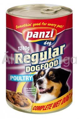 Panzi Regular DogFood Poultry szárnyas konzerv kutyaeledel 1240 g-os