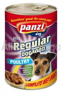 Panzi Regular DogFood Poultry szárnyas konzerv kutyaeledel 415 g-os