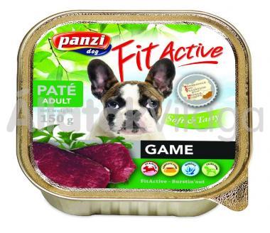 Panzi FitActive Paté Adult Game vad pástétom kutyáknak 150 g-os