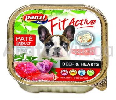 Panzi FitActive Paté Adult Beef & Hearts marha és szív pástétom kutyáknak 150 g-os