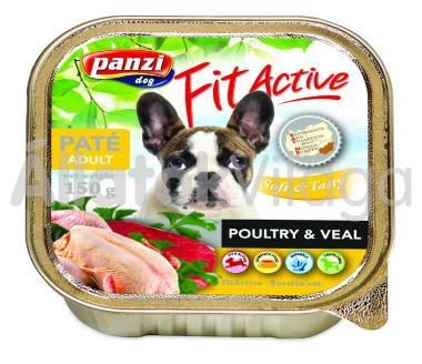 Panzi FitActive Paté Adult Poultry & Veal szárnyas és borjú pástétom kutyáknak 150 g-os