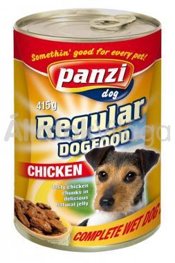 Panzi Regular DogFood Chicken csirkés konzerv kutyaeledel 415 g-os