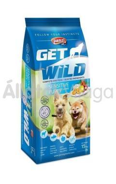 Panzi GetWild Sensitive Puppy-kölyök kutyaeledel Bárány&Hal Almával 15 kg-os