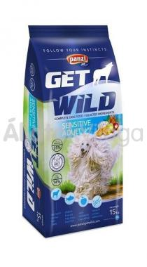 Panzi GetWild Sensitive Adult-felnőtt kutyaeledel Lamb Almával 15 kg-os