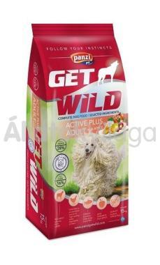 Panzi GetWild Active Plus Adult-felnőtt kutyaeledel Bárny&Csirke Hallal&Almával 15 kg-os