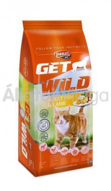 Panzi GetWild Cat Adult Fish&Lamb-felnőtt macskaeledel Hal&Bárány 15 kg-os