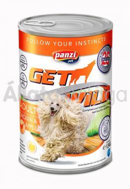 Panzi GetWild Adult-felnőtt kozerv kutyaeledel Csirke&Alma 1240 g-os