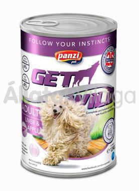 Panzi GetWild Adult-felnőtt kozerv kutyaeledel Máj&Alma 1240 g-os