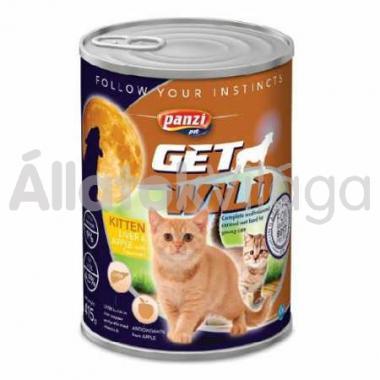 Panzi GetWild Kitten-kölyök konzerv macskaeledel Máj&Alma 415 g-os