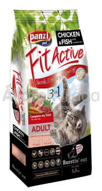 Panzi FitActive 3in1 Adult-felnőtt Chicken&Fish (csirke-hal) macseledel 1,5 kg-os