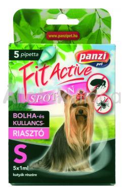 Panzi FitActive bolha- és kullancsriasztó spot-on S-es (20 kg alatti) kutyáknak 5 db-os