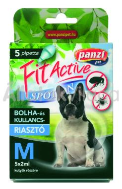Panzi FitActive bolha- és kullancsriasztó spot-on M-es (20-40 kg) kutyáknak 5 db-os
