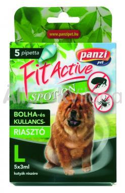 Panzi FitActive bolha- és kullancsriasztó spot-on L-es (40-60 kg) kutyáknak 5 db-os