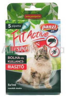 Panzi FitActive bolha- és kullancsriasztó spot-on macskáknak 5 db-os