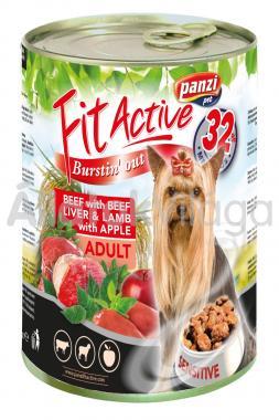 Panzi FitActive Adult-felnőtt Beef with Beefliver & Lamb with Apple konzerv kutyaeledel 415 g-os