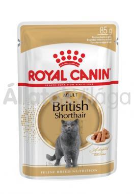 RoyalCanin British Shorthair Adult-felnőtt alutasakos macskaeledel nedves 85 g-os