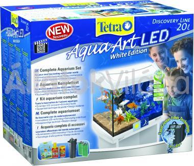 Tetra AquaArt LED Goldfish akvárium szett 20 literes fehér