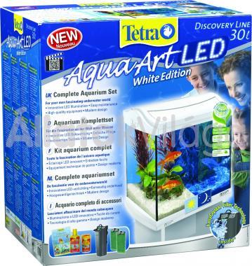 Tetra AquaArt LED Goldfish akvárium szett 30 literes fehér