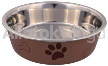 Trixie fém tál egyszerű műanyag borítással 0,40 literes 14 cm-es 25242